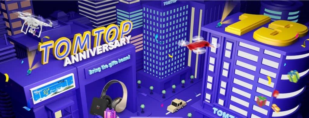 Celebra el 13 Aniversario de TomTop con sus mejores promociones