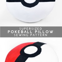 Free Pattern Friday! Supersized Pokeball Pillow