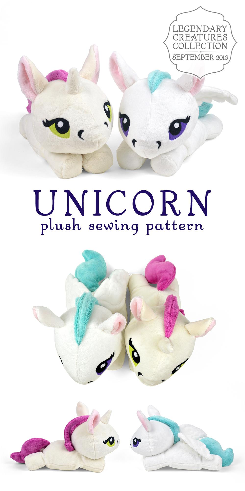 Unicorn Plush Pattern : unicorn, plush, pattern, Unicorn, Choly, Knight