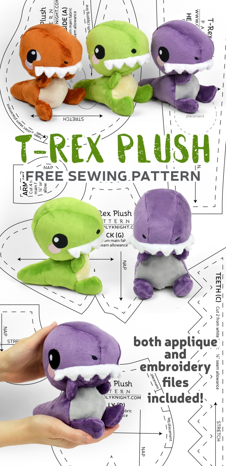 Dinosaur Sewing Pattern : dinosaur, sewing, pattern, Pattern, Friday!, T-Rex, Plush, Choly, Knight