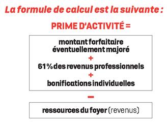 calcul prime d'activité