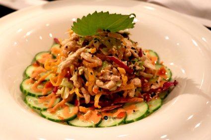 Chicken Salad with wonton crisps