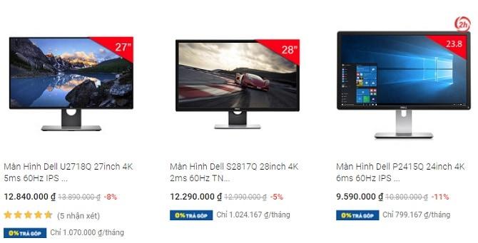 Màn hình Dell 4K