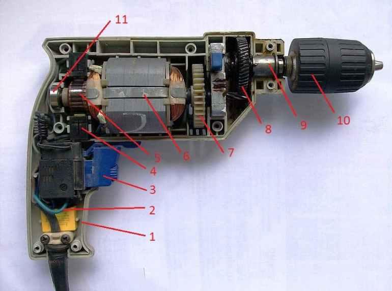 Cấu tạo của chiếc máy khoan cầm tay