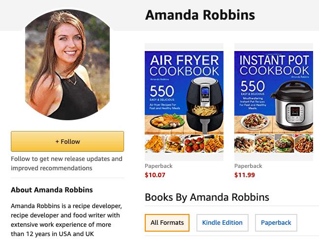 Tác giả Amanda Robbins