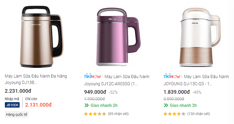 Top 3 Máy làm sữa hạt Joyoung