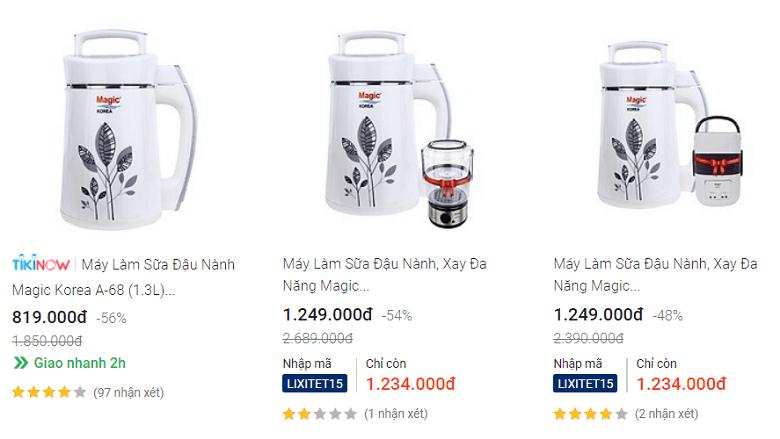 Top 3 Máy làm sữa hạt Magic