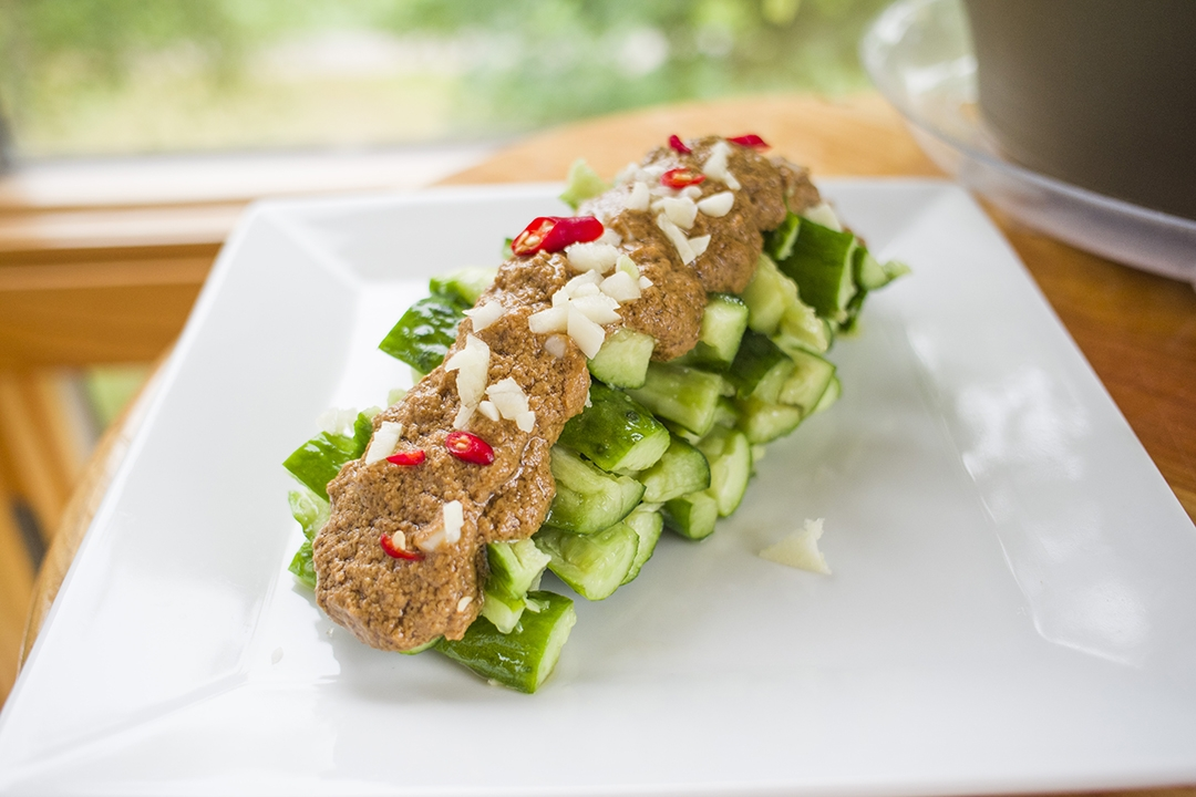 Cucumber Salad with Sesame Dressing | 麻醬涼拌小黃瓜