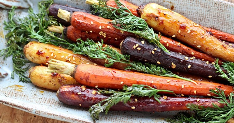 Asian-Spiced Roasted Rainbow Carrots by Asian Caucasian
