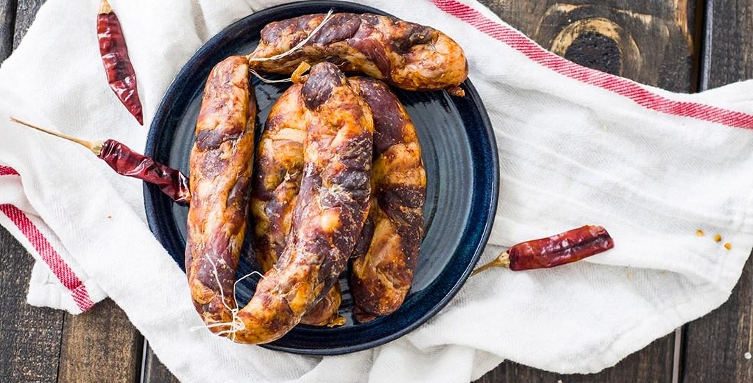 Sichuan Sausage (Mala Spicy Sausage)   四川麻辣香腸