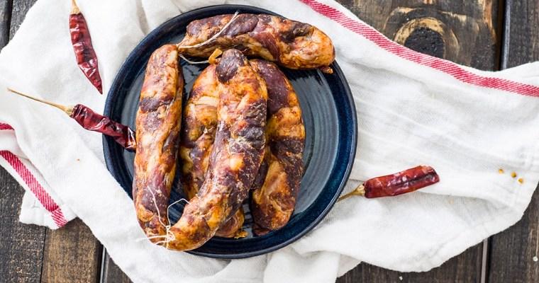 Sichuan Sausage (Mala Spicy Sausage) | 四川麻辣香腸