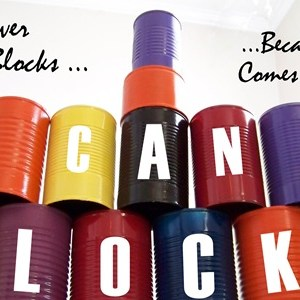 The Coolest Building Blocks Ever … out of cans!