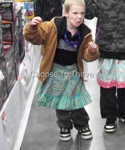 My Son's Wearing A Skirt At Walmart ….