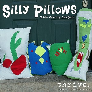 Kids Summer Break Sewing Project: Silly Pillows