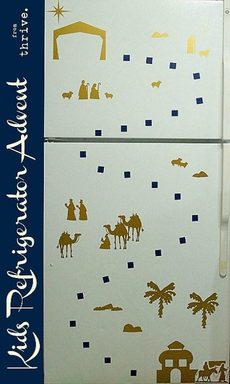 Kids Christmas Refrigerator Advent - choosetothrive.blogspot.com