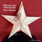 Make Your Own Tin Stars From A Cake Pan - choose-to-thrive.com