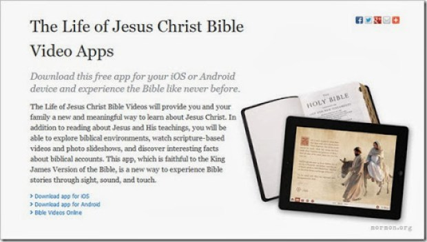 Download the free Life of Jesus Christ Bible Video App for iOS or Android