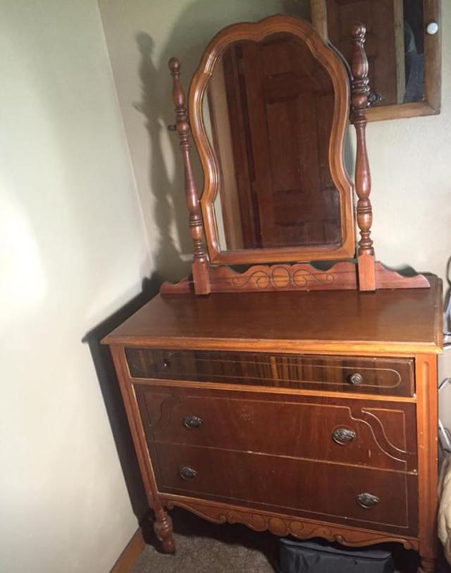 Repurposed Dresser Before