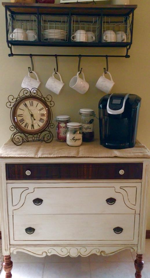 Repurposed Dresser Kitchen