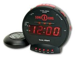 Sonic Alert SBB500SS Sonic Bomb Loud Dual Alarm Clock
