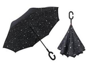Inverted Umbrella Double Layer Windproof UV Protection