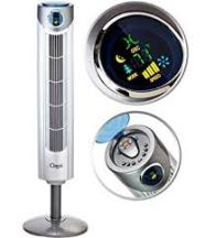 Ozeri Ultra 42 inch Wind Fan - Adjustable Oscillating Tower Fan
