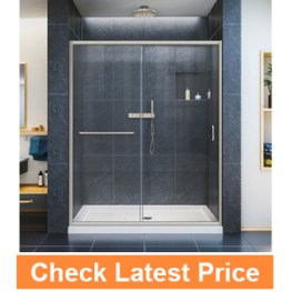 "DreamLine Infinity-Z 56 to 60"" Frameless Sliding Shower Door"