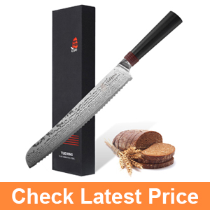 TUO Cutlery Damascus Bread Knife 9