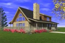 Mountain View Log Home - Custom Timber Homes