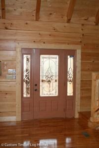 Front Door - Custom Timber Log Homes