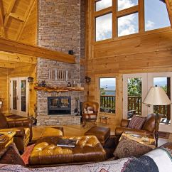 Green Leather Corner Sofa Bed Top View Images Png Chilhowee Final Pics - Custom Timber Log Homes