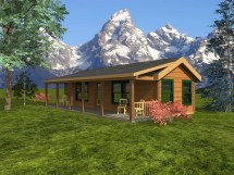 Log Home Plans 1200 Sq FT