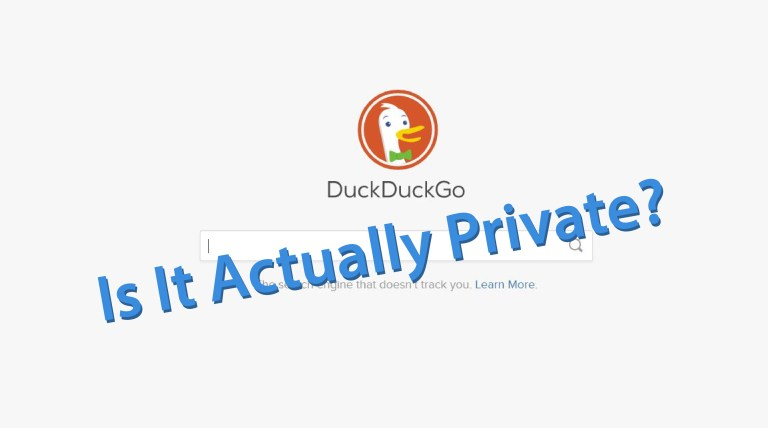 duckduckgo actually private