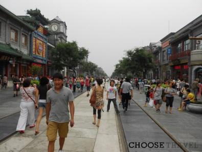 Ulica Qianmen w centrum Pekinu, Chiny