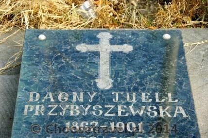Nowy nagrobek Dagny Przybyszewskiej na cmentarzu Kukia w Tbilisi. Ciało Norweżki zostało tutaj przeniesione w 1999 roku.