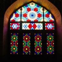 Witraż w Różowym Meczecie w Szirazie, Iran