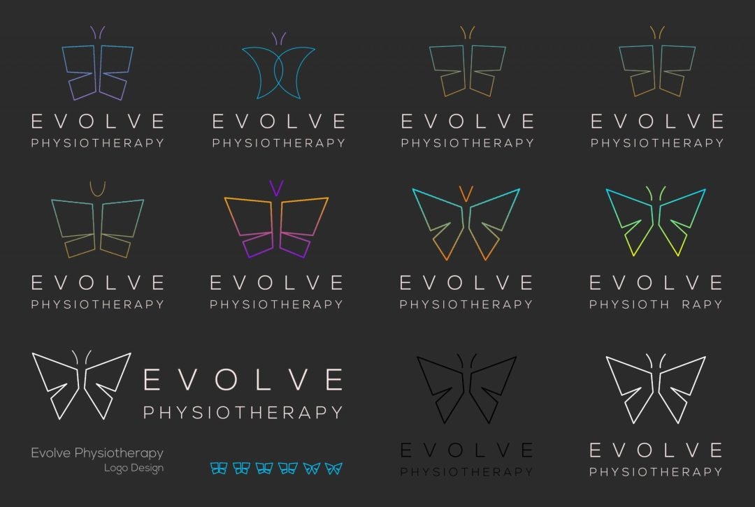 evolve butterfly logo visuals
