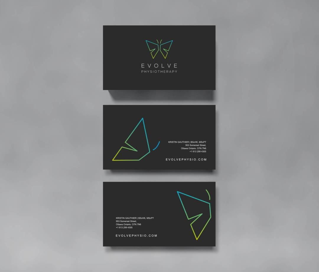 evolve Physio business cards