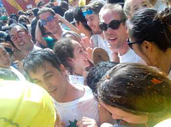 The crowd at La Tomatina.