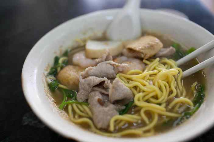 Prawn noodles in Singapore