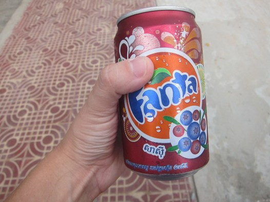 The can made it look like this was blueberry Fanta. But I think it was just grape.