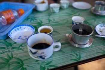 Weasel coffee in Dalat, Vietnam.