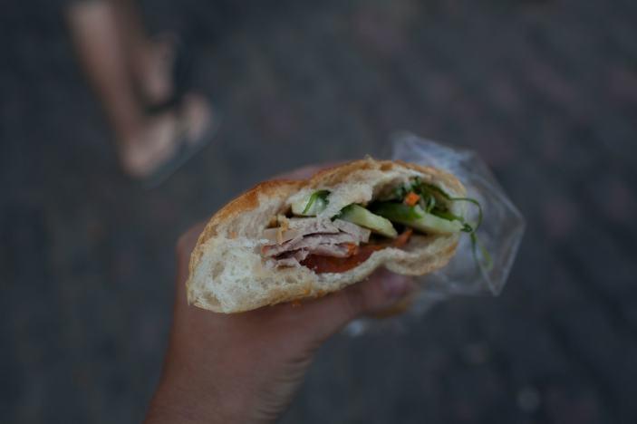 Bahn Mi sandwich in Ho Chi Minh, Vietnam.