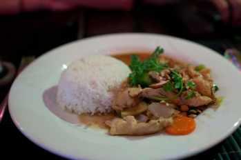 Cashew chicken in Ho Chi Minh, Vietnam.