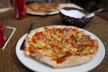 Pizza in Hoi An, Vietnam.