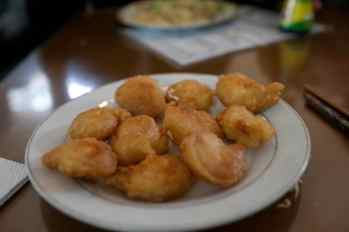 Fried shrimps on the DMZ tour. (I was desperate for something fried in my hungover state...)