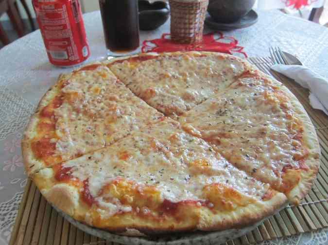 Pizza in Nha Trang, Vietnam.