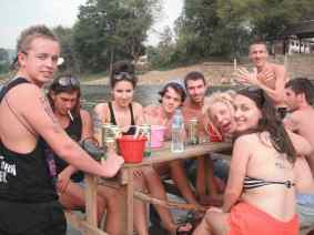 My Birthday party in Vang Vieng, Laos.