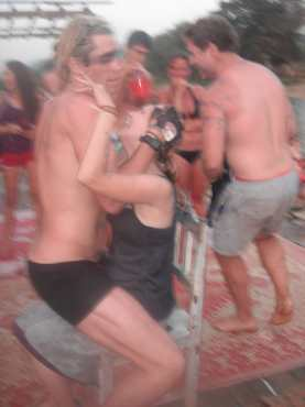 My Birthday lap dance in Vang Vieng, Laos.