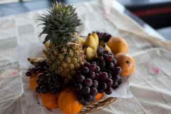 Fruit basket on the house boat in Kerala, India.